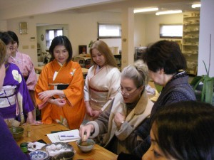 Doing research for my Japanese Tea Ceremony story